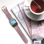Load image into Gallery viewer, Apple Watch Band - Shiny Leather Bands(Shiny Pink)