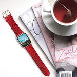 Load image into Gallery viewer, Apple Watch Band - Shiny Leather Bands(Shiny Red)