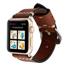 Genuine Leather Apple Watch Band (Big Loop Brown)