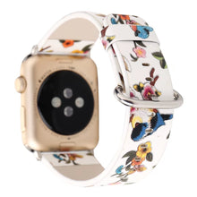 Designer Leather Apple Watch Band (Bird - White)