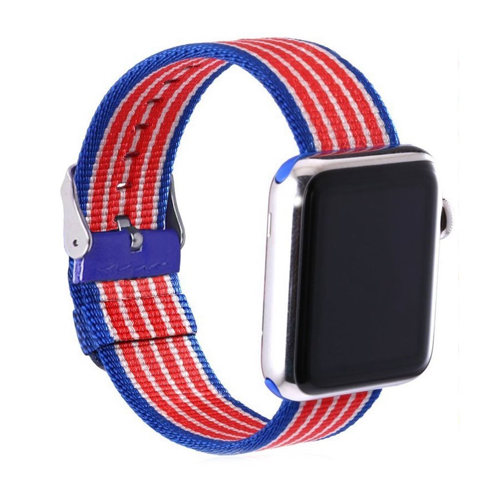 Nylon Apple Watch Band (Stripe, American Flag Nylon)