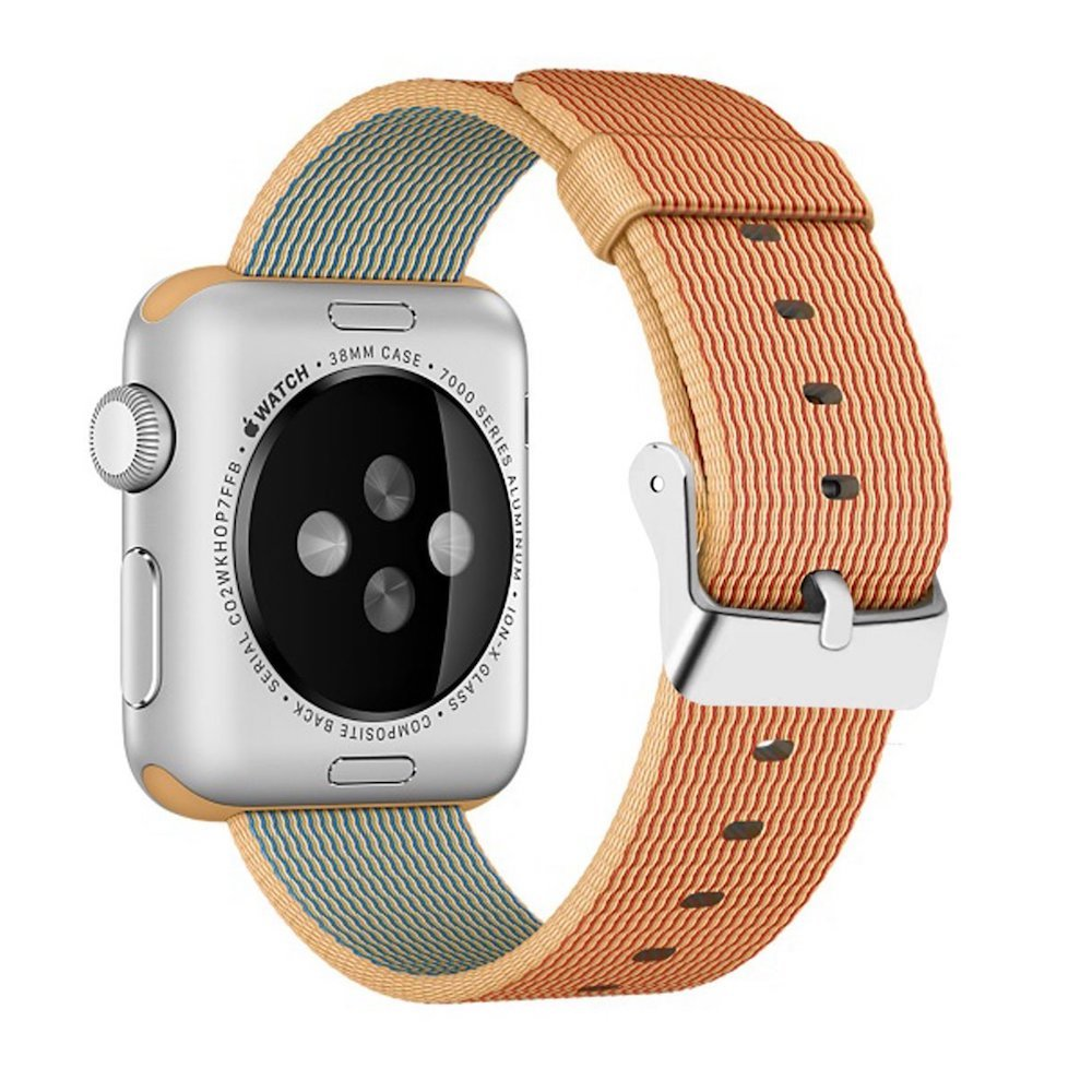 Nylon Apple Watch Band (Solid, Orange Nylon)