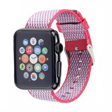 Nylon Apple Watch Band (Woven Pink)