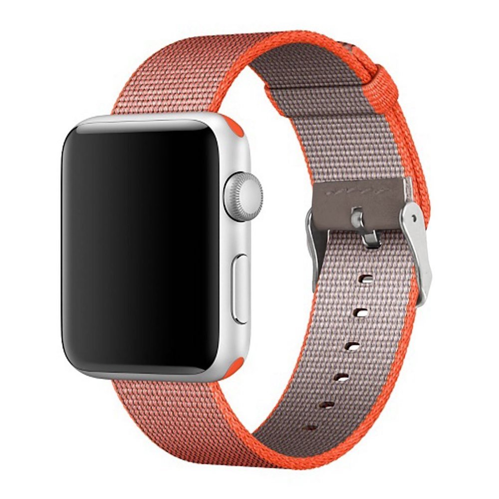 Nylon Apple Watch Band (Solid, Orange and Gray)
