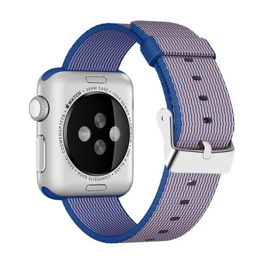 Nylon Apple Watch Band (Solid, Navy Blue and Pink)