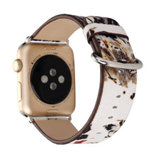 Designer Leather Apple Watch Band (Tree - White and Brown Trees)