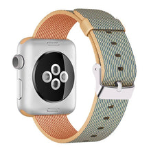 Nylon Apple Watch Band (Solid, Gold and Orange)