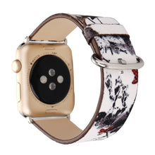 Designer Leather Apple Watch Band (Tree - White and Black Trees)