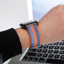 Nylon Apple Watch Band (Stripe, Orange and Blue)