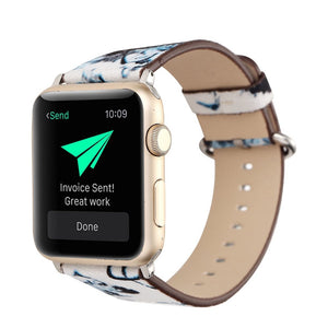 Designer Leather Apple Watch Band
