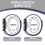 Load image into Gallery viewer, Apple Watch Sport Loop Band (Black and Purple)