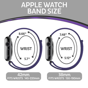 Apple Watch Sport Loop Band (Black and Purple)
