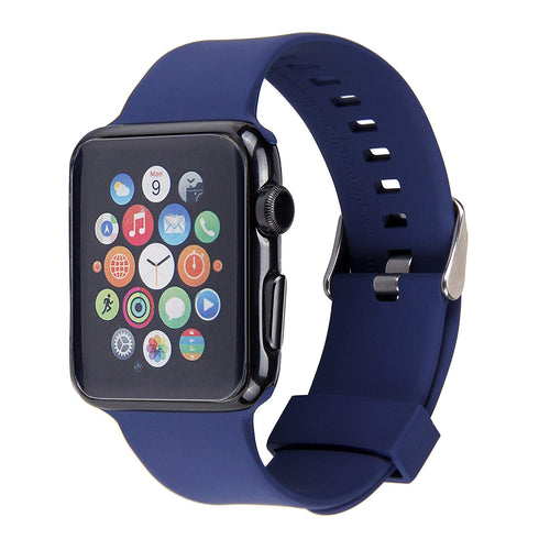 Apple Watch Silicone Band (Solid Color - Navy Blue, 38mm)