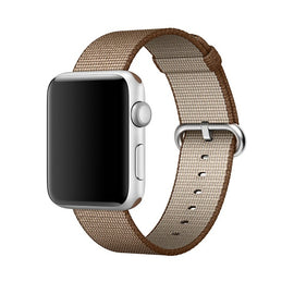 Nylon Apple Watch Band (Solid: Coffee and Light Brown)
