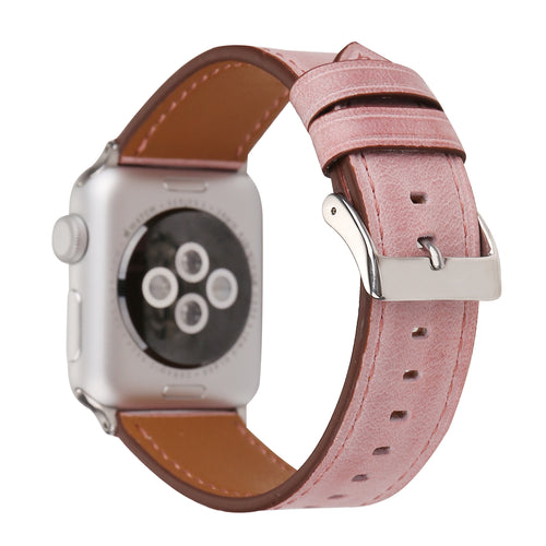 Leather Apple Watch Replacement Band for Women (Pastel: Pink)