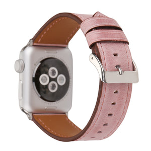 Leather Apple Watch Replacement Band(Pastel: Pink)
