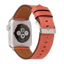 Leather Apple Watch Replacement Band for Women (Peach)