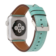 Leather Apple Watch Replacement Band for Women (Teal)