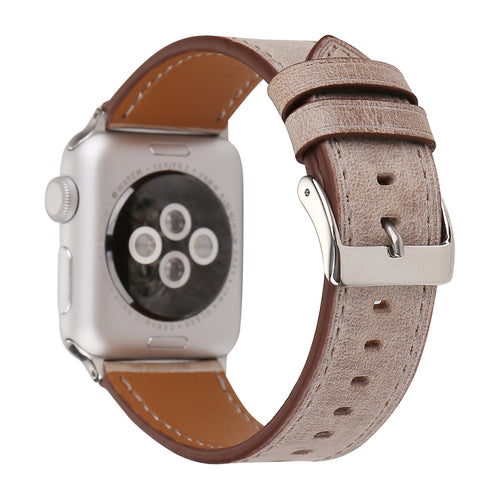 Leather Apple Watch Replacement Band for Women (Tan)