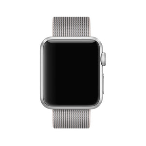 Nylon Apple Watch Band (Solid: Pearl White)