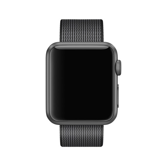 Nylon Apple Watch Band (Solid: Black Nylon)