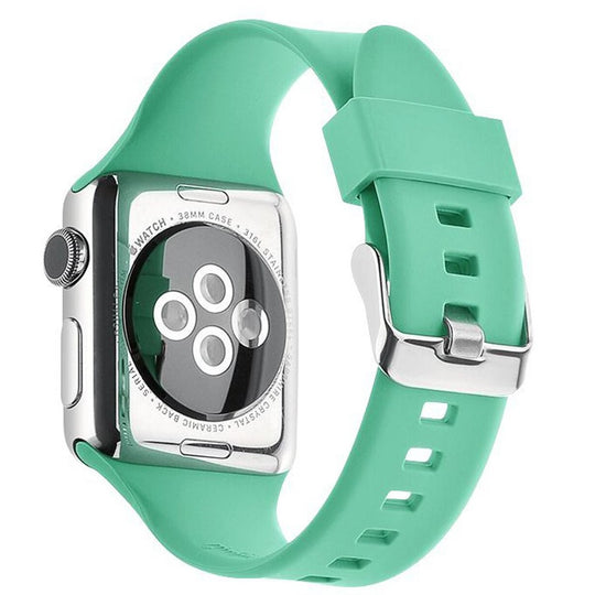 Apple Watch Silicone Band (Solid Color- Green)