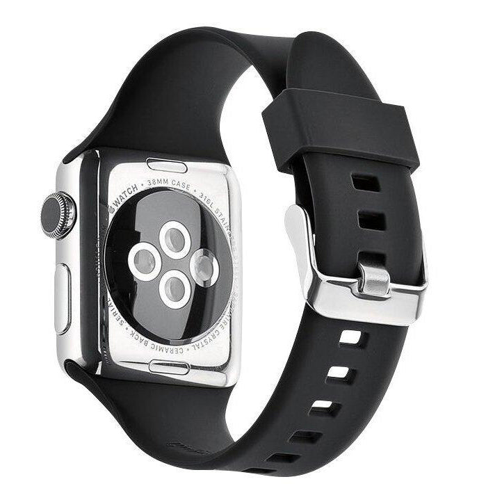 Apple Watch Silicone Band (Solid - Black)