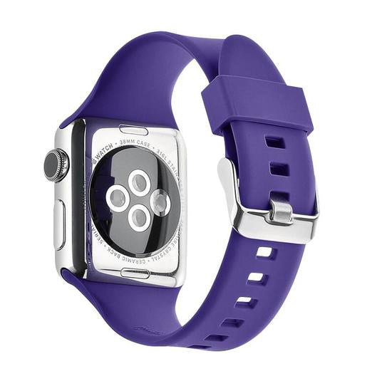 Apple Watch Silicone Band (Solid - Purple)