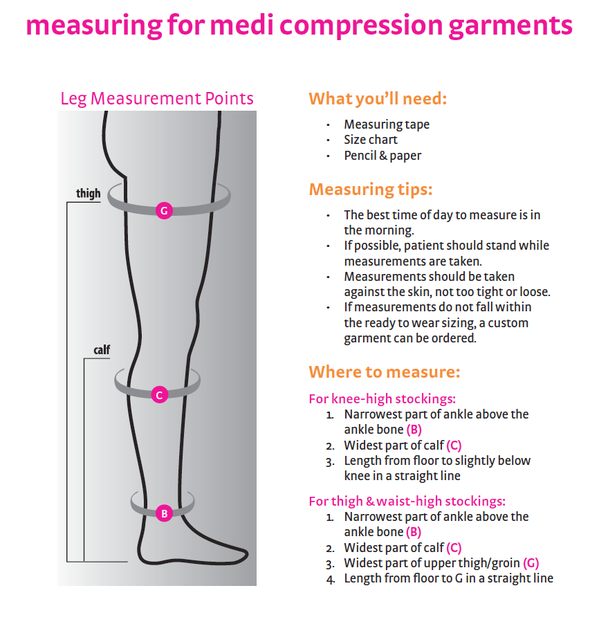 How-to-measure for medi compression stockings