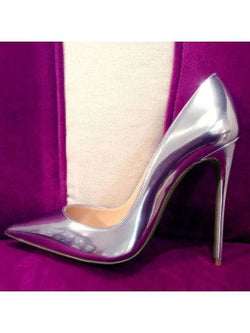 Metallic gradient purple pump - The Royal Boutique