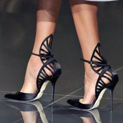 Black designer stiletto - The Royal Boutique