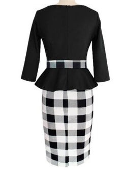 Black and White vintage dress - The Royal Boutique