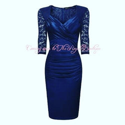 Beautifully crafted satin dress - The Royal Boutique