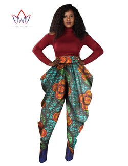 High Waist Wax Print Harem Pants - The Royal Boutique