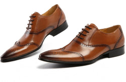 brogue style mens dress shoes - The Royal Boutique