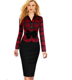 Casual Checkered dress - The Royal Boutique
