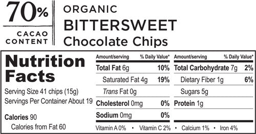Organic Bittersweet Chocolate Chips