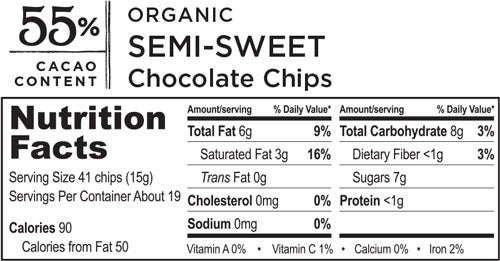 Organic Semisweet Chocolate Chips