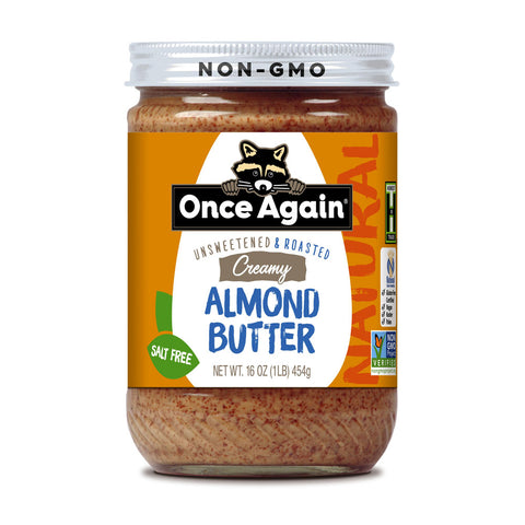 A jar of almond butter