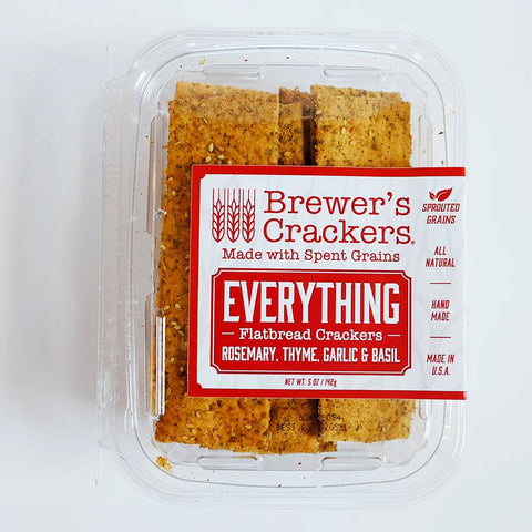 A package of everything flatbread crackers