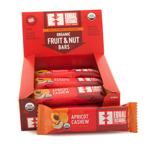 Organic Apricot Cashew Fruit and Nut Bars - 12 Pack