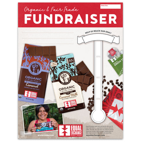 Poster with a thermometer to track your fundraising goals