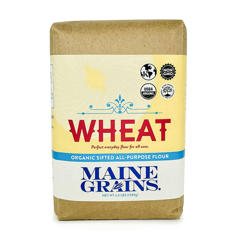 A bag of sifted all-purpose wheat flour