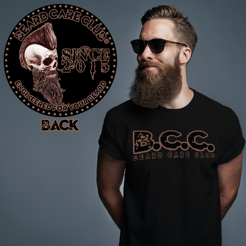 Mohawk Skull Beard Care Club T-Shirt