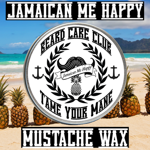 Jamaican Me Happy Mustache Wax