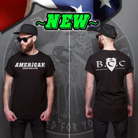 """American"" Beard Care Club Grooming Company T-Shirt"