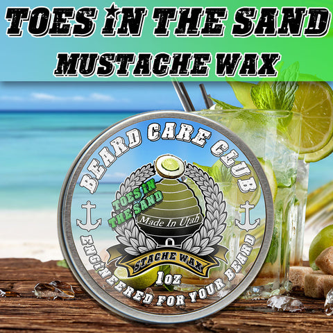 Toes In The Sand Mustache Wax