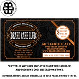 Beard Care Club Gift Card