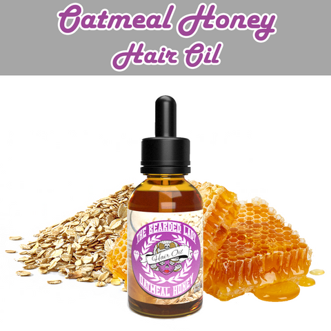 The Bearded Lady Hair Oil - Oatmeal & Honey