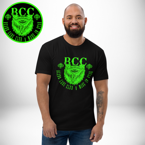 Neon Green BCC Logo Short Sleeve T-shirt